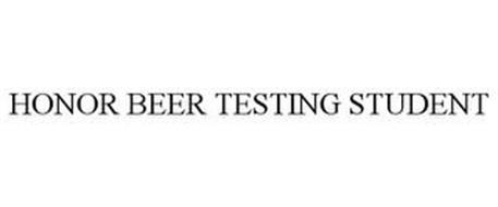 HONOR BEER TESTING STUDENT