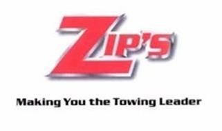 ZIP'S MAKING YOU THE TOWING LEADER