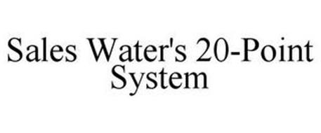 SALES WATER'S 20-POINT SYSTEM