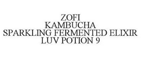 ZOFI KOMBUCHA SPARKLING FERMENTED ELIXIR LUV POTION 9