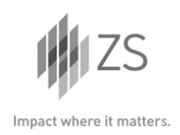 ZS IMPACT WHERE IT MATTERS.