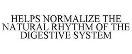 HELPS NORMALIZE THE NATURAL RHYTHM OF THE DIGESTIVE SYSTEM