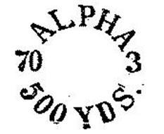ALPHA 3 500 YDS 70