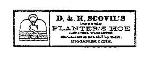 S D & H SCOVIL'S IMPROVED PLANTER'S HOECAST STEEL WARRENTED MANUFACTURED SOLELY BY THEM HIGGANUM, CONN.
