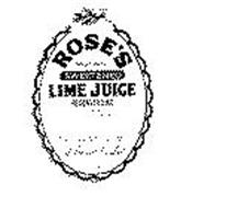 ROSE'S SWEETENED LIME JUICE RECONSTITUTED L. ROSE CO. LTD. ST. ALBANS, ENGLAND & THE WEST INDIES ESTD. 1805 WEST INDIA