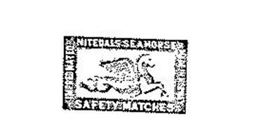 NITEDALS SEAHORSE SAFETY MATCHES IMPREGNATED MADE IN NORWAY