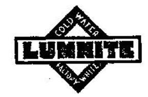 LUMNITE COLD WATER FACTORY WHITE
