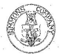 SIMMONS COMPANY 1/3 YOUR LIFE IS SPENT IN BED