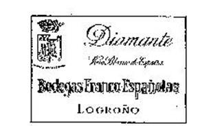 DIAMANTE BODEGAS FRANCO-ESPANOLAS LOGRONO VINO BLANCO DE ESPANA