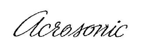 ACROSONIC