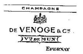 CHAMPAGNE DE VENOGE & CIE VVE DE MUN C E PERNAY