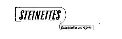 STEINETTES CONTAIN IODINE & ASPIRIN