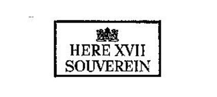HERE XVII SOUVEREIN