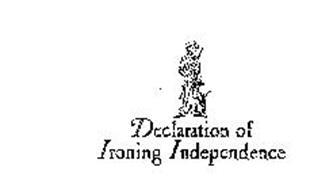 DECLARATION OF IRONING INDEPENDENCE