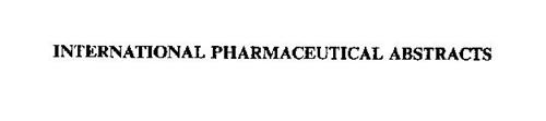 INTERNATIONAL PHARMACEUTICAL ABSTRACTS
