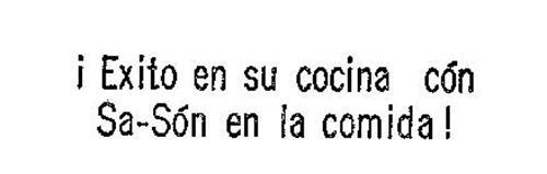 ! EXITO EN SU COCINA CON SA-SON EN LA COMIDA!
