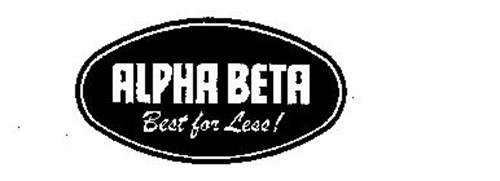 ALPHA BETA BEST FOR LESS!