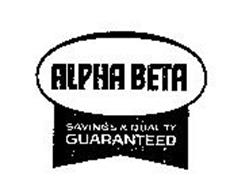 ALPHA BETA SAVINGS & QUALITY GUARANTEED