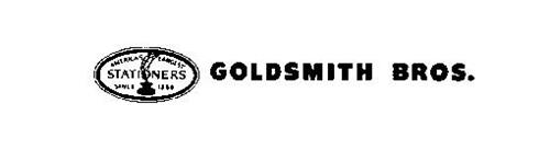 GOLDSMITH BROS AMERICA'S LARGEST STATIONERS SINCE 1886