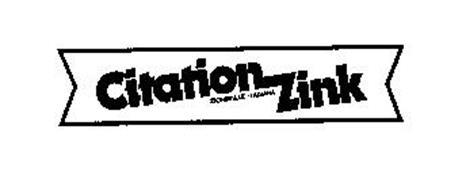 CITATION ZINK ZIONSVILLE . INDIANA
