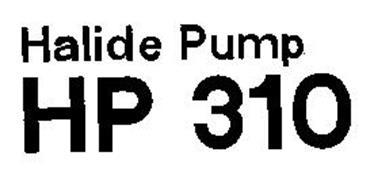 HALIDE PUMP HP 310