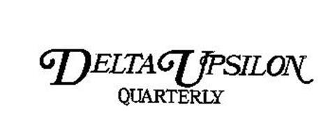 DELTA UPSILON QUARTERLY