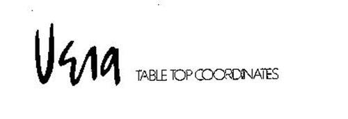VERA TABLE TOP COORDINATES