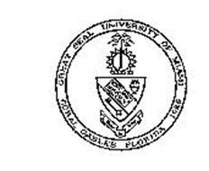GREAT SEAL UNIVERSITY OF MIAMI-CORAL GABLES FLORIDA 1925 MAGNA EST VERITAS INVESTIGAITO CONSERVATIO ET DISSEMINATO SCIENTIAE