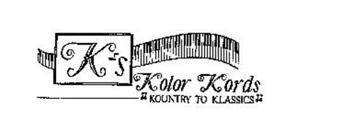 K'S KOLOR KORDS KOUNTRY TO KLASSICS