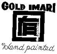 GOLD IMARI HAND PAINTED