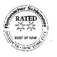 HAMMACHER SCHLEMMER RATED BEST OF KIND INSTITUTE NEW YORK CITY