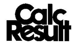 CALC RESULT