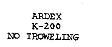 ARDEX K-200 NO-TROWELING