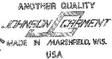 J G JOHNSON GARMENT ANOTHER QUALITY MADE IN MARSHFIELD, WIS. U S A