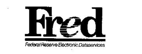 FRED FEDERAL RESERVE ELECTRONIC DATASERVICES