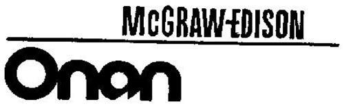 MCGRAW-EDISON ONAN