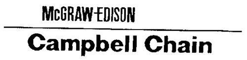 MCGRAW-EDISON CAMPBELL CHAIN