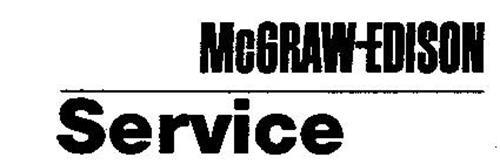 MCGRAW-EDISON SERVICE