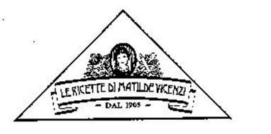 LE RICETTE DI MATILDE VICENZI DAL 1905