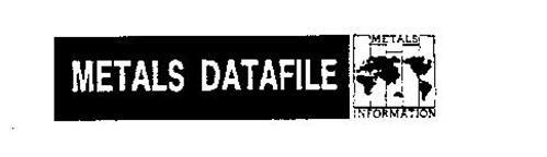METALS DATAFILE METALS INFORMATION