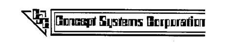 CONCEPT SYSTEMS CORPORATION CSC