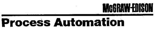 MCGRAW-EDISON PROCESS AUTOMATION