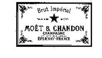 BRUT IMPERIAL MAISON FONDEE EN 1743 MOET & CHANDON CHAMPAGNE APPELLATION D'ORIGINE CONTROLEE EPERNAY-FRANCE
