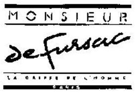 MONSIEUR DE FURSAC LA GRIFFE DE L'HOMME PARIS