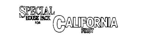 SPECIAL HOUSE PACK FOR CALIFORNIA FIRST