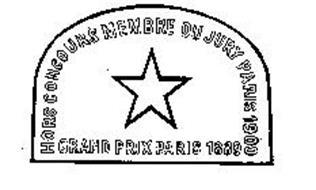 HORS CONCOURS MEMBRE DU JURY PARIS 1900 GRAND PRIX PARIS 1889