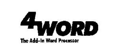4WORD THE ADD-IN WORD PROCESSOR