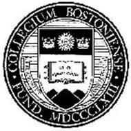 COLLEGIUM BOSTONIENSE FUND. 1863 RELIGIONI ET BONIS ARTIBUS