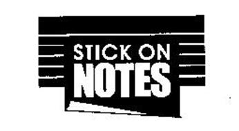 STICK ON NOTES