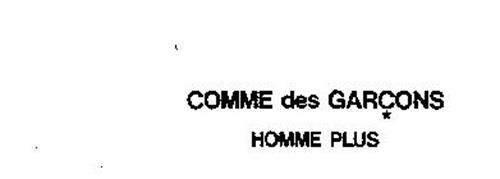 「COMME des GARÇONS HOMME PLUS ロゴ」の画像検索結果
